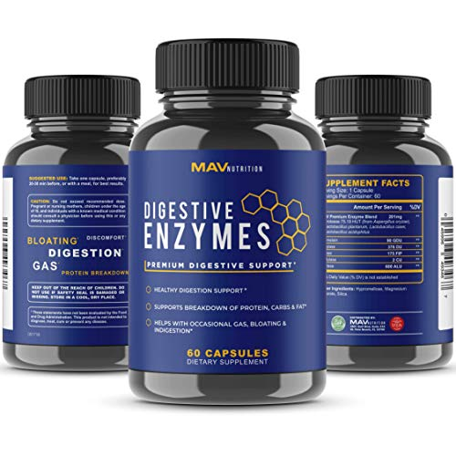 Digestive Enzymes + Probiotics Supplement Designed to Decrease Bloating and Flatulence with Protease Enzyme, Bromelain, and Lactase; Digestion Aid with Three Powerful Strains of Bacteria; NON-GMO by MAV Nutrition (Image #3)
