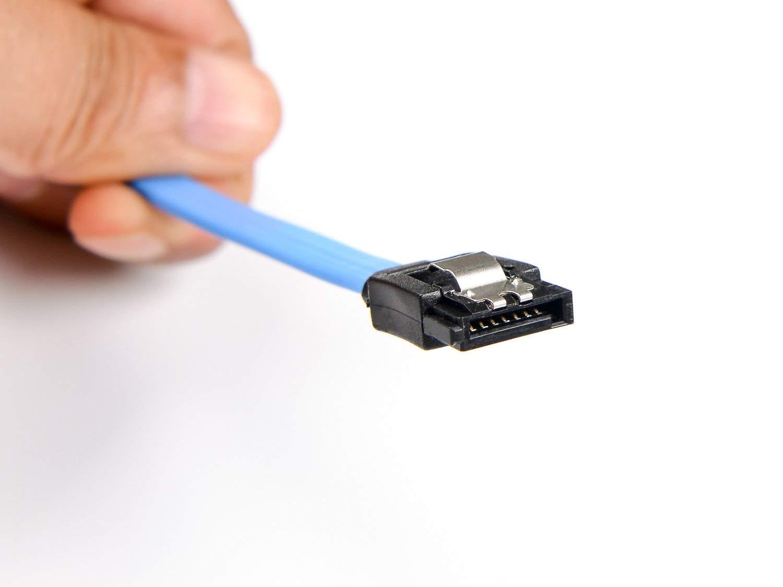 ANDERK Paquete de 20 Cable SATA III Cable de Datos S-ATA 3 6 GBit//s Cable de Conexi/ón para HDD SSD Clip Met/álico