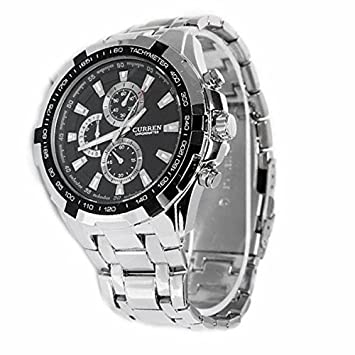 Foxnovo CURREN 8023 Waterproof Men Dial Quartz Wrist Watch with Stainless Steel Band