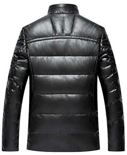Del Nello Sk E Giù Studio Cappotto Casuale Pu Uomini Di Alto Nera Degli Basamento Giacca Grande Il Collare RpnPWp