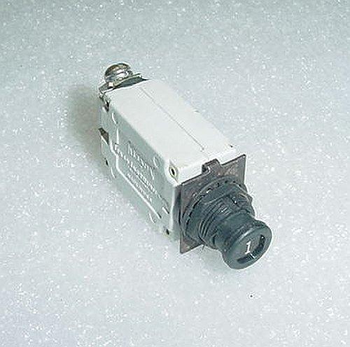 Klixon 1 Amp Slim Aircraft Circuit Breaker 7277-2-1, 1802786-3