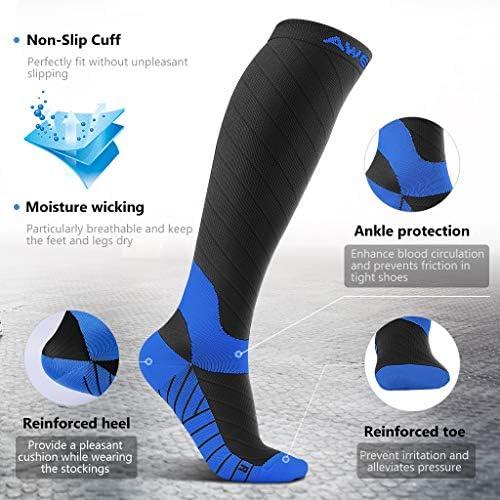 Awenia Calcetines de Compresión Deportivos Medias Transpirables para Hombres y Mujeres, para Crossfit Fútbol Avion Viaje Enfermera: Amazon.es: Deportes y aire libre