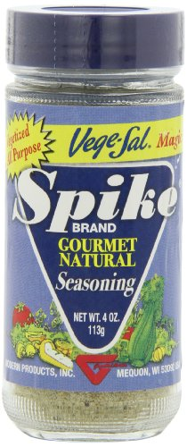 (Spike Gourmet Natural Seasoning, Vege-Sal, 4 Ounce (Pack of 6))
