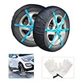 AGOOL Car Tire Snow Socks Traction Cover Socks Anti Slip Tire Chains Alternative Winter Traction Aid Snow Sock for Most Car/SUV/Truck