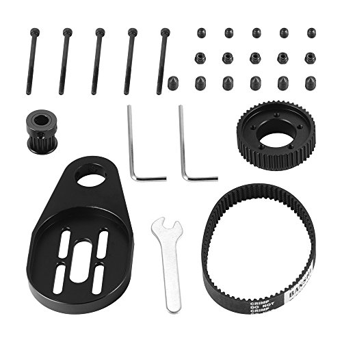 XCSOURCE DIY Electric Skateboard Longboard Pulley and Motor Kit + Bracket + Belt + Screw Tool Mount for 70/72mm Wheel OS915