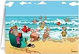 Beach Theme Christmas Card - 12 Cards / 13 Envelopes