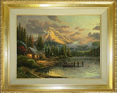 - Lakeside Hideaway Thomas Kinkade 16 x 20 LE R/E Canvas