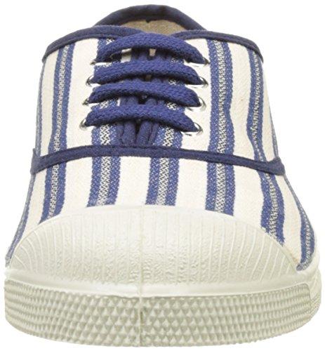 Femme Tennis Baskets Bleu Rayures Transat Lacet Bensimon WpxPaW