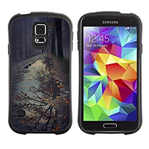 Paccase / Suave TPU GEL Caso Carcasa de Protección Funda para - Puddle Reflection Fall Autumn Nature - Samsung Galaxy S5 SM-G900