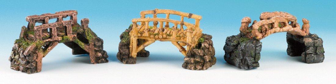 Classic Polyresin Assorted Bridges on Rocks Aquarium Decoration 17cm