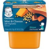 Gerber 2nd Foods Macaroni & Cheese, 4 oz Tubs, 2 Count (Pack of 8): more info