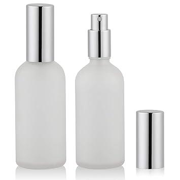 723cf8c3caf3 Empty Frosted Glass Spray Bottle 4oz, Perfume Atomizer, Fine Mist Spray (2  PACK)