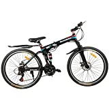 GoGoA1 Rockefeller 26 inch Light Weight Foldable / Folding Mountain Bike / Bicycle with Double Disc Brake Dual Suspension