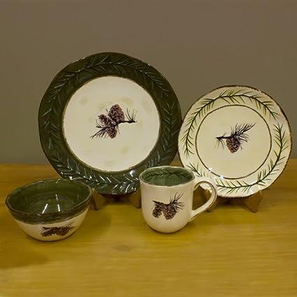 16 Piece Pine Cone Dinnerware Set & Amazon.com : 16 Piece Pine Cone Dinnerware Set : Mugs : Everything Else