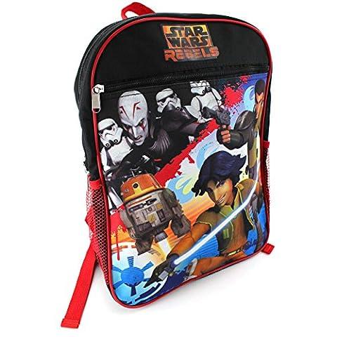 Star Wars Rebels 15 Inch Backpack (Star Wars Rebels Black) (Star Wars Rebel Bag)