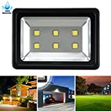 LuBao 300W LED Flood Light,High Power 6 LED lights Waterproof Super Bright 6000K White Light Spotlights Flood Lamp,Cool White Security Lights for Outdoor Garden Landscape Playground 85v-265v AC