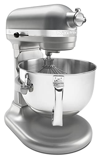 KitchenAid Professional 600 Series KP26M1XER Bowl-Lift Stand Mixer, 6 Quart, Nickel Pearl