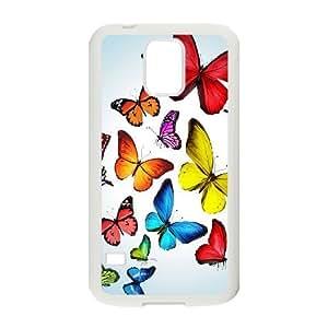 Samsung Galaxy S5 Phone Case Colourful Butterflies H8U7789010