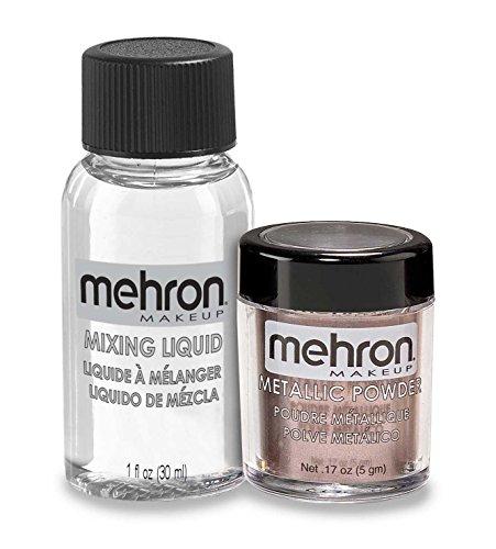 Mehron Makeup Metallic Powder .17 oz with Mixing Liquid 1fl