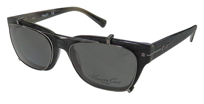 3c5d4b7faa4 Amazon.com  Kenneth Cole 0240 Mens Womens Designer Full-Rim Shape Sunglass  Lens Clip-Ons Eyeglasses Eye Glasses (51-18-140