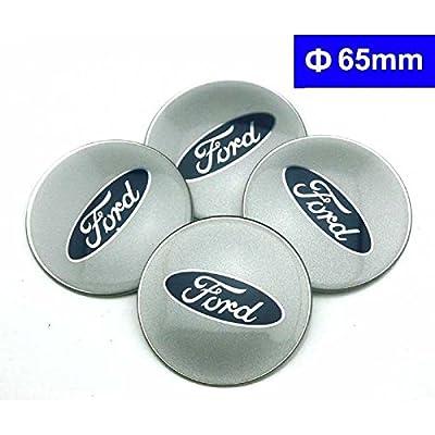 4pcs C078 65mm Car Styling Accessories Emblem Badge Sticker Wheel Hub Caps Centre Cover FORD Focus 2 Focus 3 FIESTA F-150 Kuga FUSION ESCAPE EDGE: Automotive