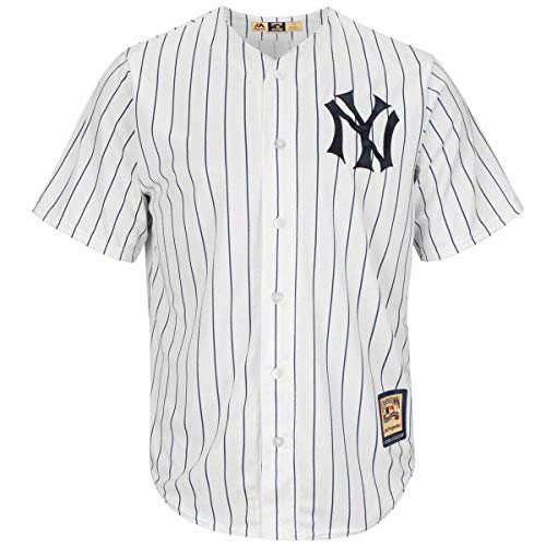 Jersey Authentic (OuterStuff New York Yankees Wordmark White Pinstripe Youth Authentic Home Jersey (Large 14/16))