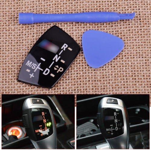 Gear Shift Knob Panel Sticker LHD models AT for BMW ////M E82 E90 E60 F10 F30 F34