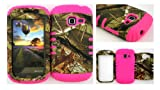 Straight Talk/Net 10 Samsung Galaxy Discover Centura R740 S730G S738C Exclusive Camo Mossy Hunter Series on Pink Gel Cover Case