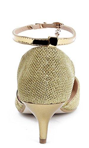 Cequí AgeeMi de Salón Cordones Shoes Sin Gold Womens Plano rqHPqS