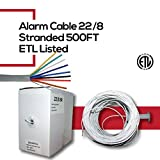 500FT WHITE UTP 22AWG//4 COND SOLID COPPER Burglar Alarm-Security Cable