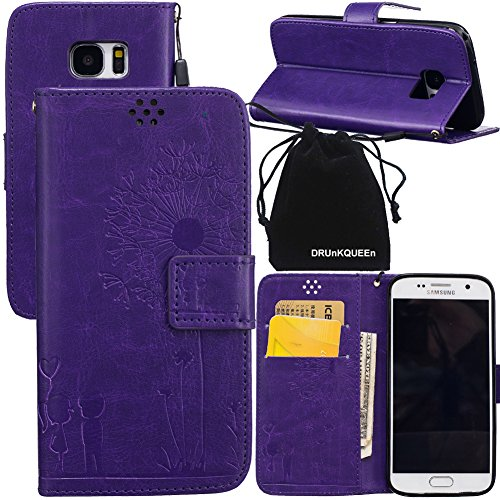 DRUnKQUEEn S7 Case, Galaxy S7 Case, Wallet Case with Cellphone Holder - PU Leather Cover Purse Slim Fit Card Slot for Samsung Galaxy S7 G930