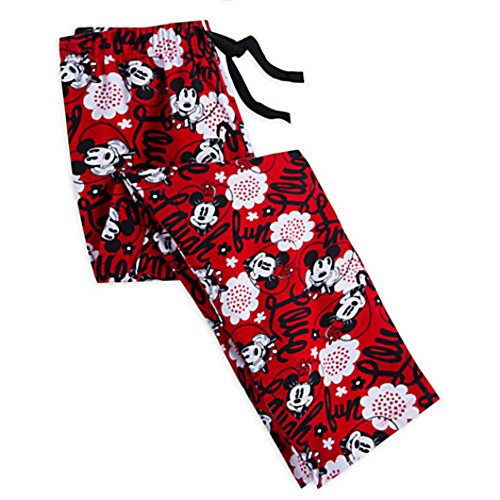 [Disney Mickey and Minnie Mouse Red Lounge Pants for Women (S)] (Female Mickey Mouse Costumes)
