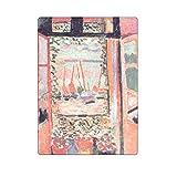 Romantic Simple COLORSFORU Henri Matisse The Open Window, Collioure Custom Fleece Blanket 58x 80 Inch Large
