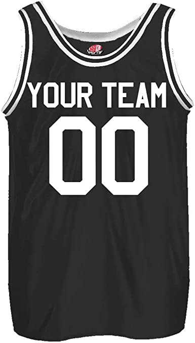 Old School Custom Slim Fit Basketball Jersey Includes Your Team Player Names and Numbers