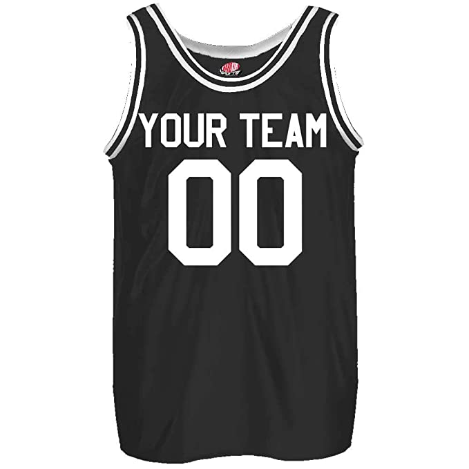 best service 7c61b 03741 Old School Custom Slim Fit Basketball Jersey Includes Your Team Player  Names and Numbers