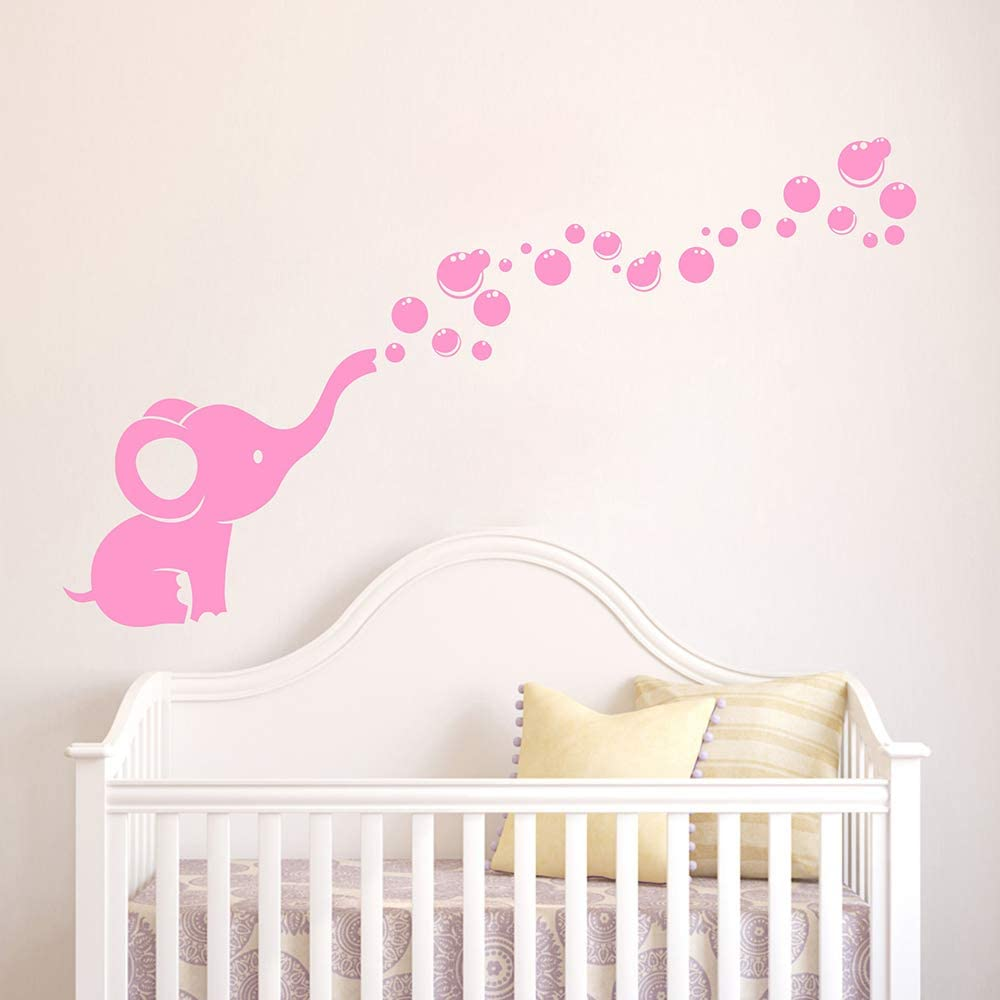 Elephant Blowing Bubbles Inspired Design Childrens Wall Art Decal Vinyl Sticker