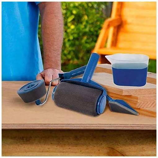 Saiko 7 PZ/Set Fai da te Set di Rullo, Rullo per Pittura con Serbatoio, Pittura Murale Multifunzione Professionale di Kit (7)