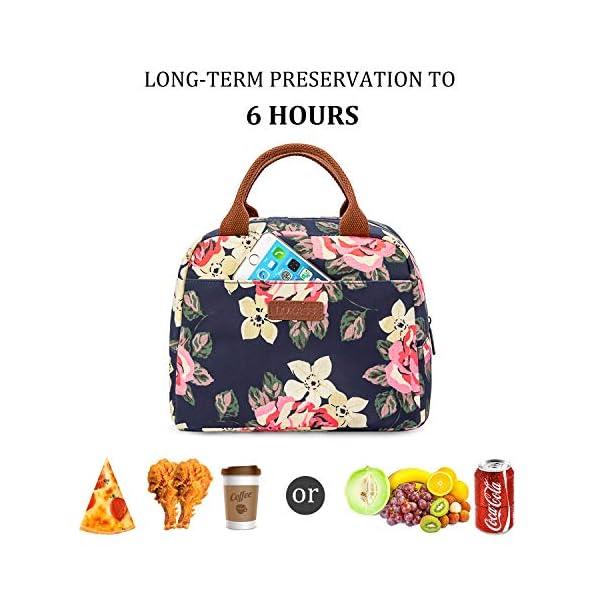 Borsa termica LOKASS per il pranzo al sacco, con rivestimento isolante a prova di perdite.Leggera per donne, ideale per… 3 spesavip