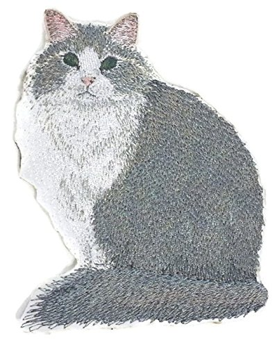 (Amazing Custom Cat Portraits[Norwegian Forest Cat ] Embroidered Iron On/Sew patch [4.5