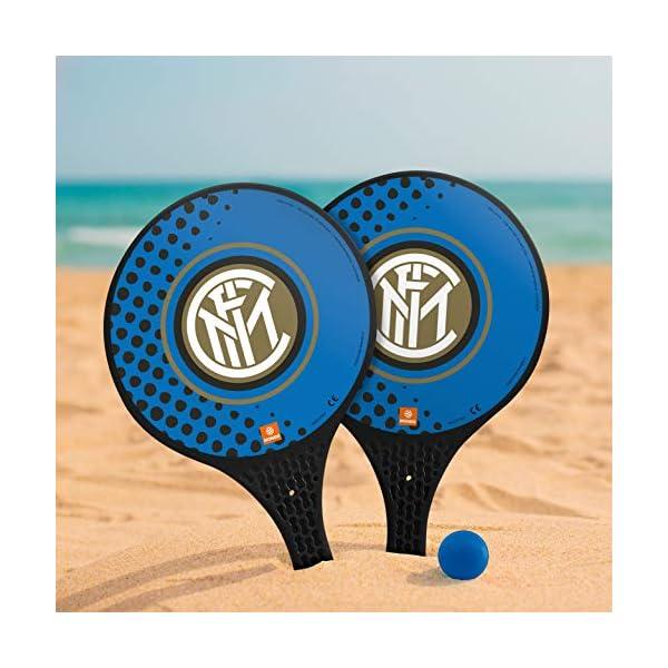 Mondo Toys - 2 Racchette in plastica - Pallina di Gomma - Gioco da Spiaggia per Bambini e Adulti - Prodotto ufficiale F… 3 spesavip