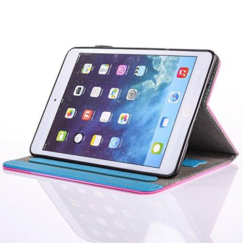 inShang iPad iPad Pro 9.7 Fundas soporte y carcasa para Apple iPad Pro 9.7 inch ((2016 Release) , smart cover PU Funda con Patrón de Diamante Two Cats