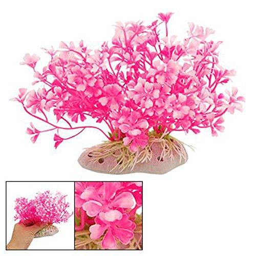 Hot Pink Aquatic Dwarf Plastic Flower Plant Ornament - Killer Dwarfs Stand Tall