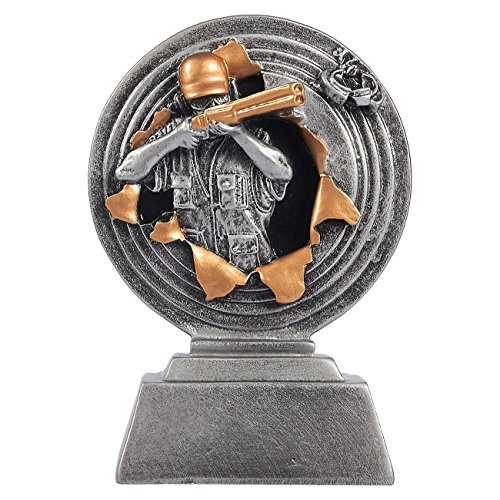 Shooting Star Trophy Award - Juvale Shooting Trophy - Trap Shooting Award, Small Resin Trophy for Tournaments, Competitions, Parties, 3.75 x 5 x 1.25 Inches