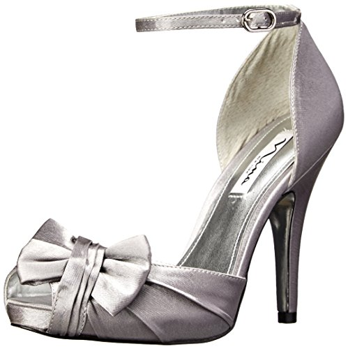 Metallic Heels Nina (Nina Women's Ella Royal Silver D'Orsay 8 M)