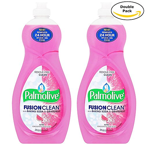 Palmolive Ultra Dish Residue Free Clean Liquid, Fusion Clean, Baking Soda and Grape Fruit, 22 Ounces Twin - Soda Dishwasher Baking