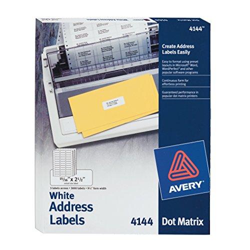 Avery Dot Matrix Printer Labels (4144)