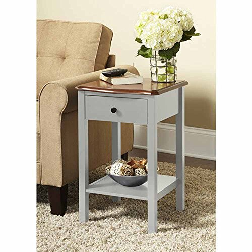 Wooden Side Or End Table With Multiple Colors (Gray)