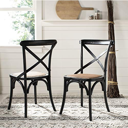 (Safavieh American Homes Collection Franklin Farmhouse X-Back Hickory Side Chair (Set of 2))