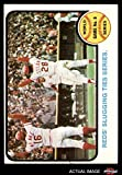 1973 Topps # 208 1972 World Series - Game #6 - Reds' Slugging Ties Series Johnny Bench / Denis Menke / Bobby Tolan Oakland / Cincinnati Athletics / Reds (Baseball Card) Dean's Cards 5 - EX Athletics / Reds