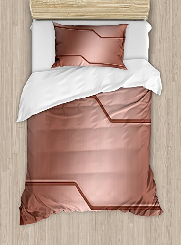 Ambesonne Industrial Duvet Cover Set Twin Size,